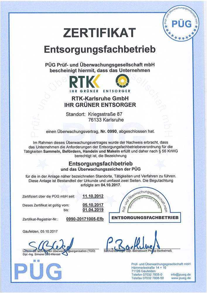 PGÜ Zertifikat